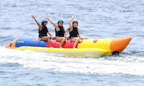 banana boat and towed water sled